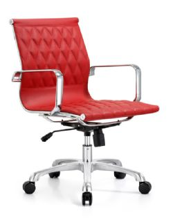 Woodstock Annie Mid Back Chair Ecoleather
