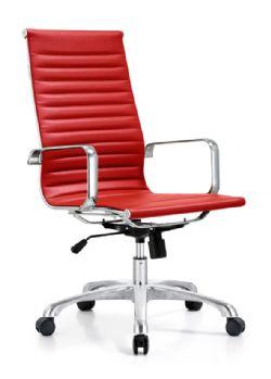 Woodstock Joplin High Back Chair Red EcoLeather